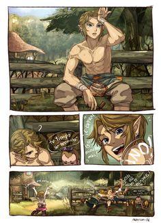 Link et les enfants