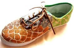custom painted giraffe sneakers
