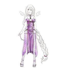 Outfit design - 15 - custom by LotusLumino on DeviantArt Manga Clothes, Drawing Clothes, Fashion Sketches, Fashion Drawings, Girl Outfits, Cute Outfits, Dress Drawing, Cosplay Outfits, Fantasy Girl