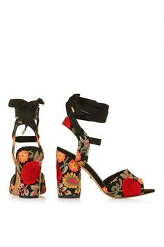 ROYAL Embroidered Sandals - Topshop USA ssk  I like statement shoes a4a3765fadc4
