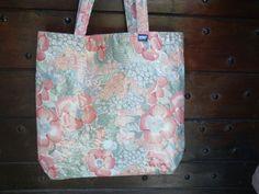 SOLD - Tote Bag Vintage Designer Fabric OilCloth by NOUBAfrance