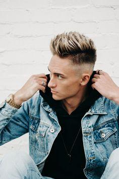 Men's Hair, men's fade, fade, men's fashion, men, short hair, men's short hair cut, men's highlights Copyright Jeremy Jensen