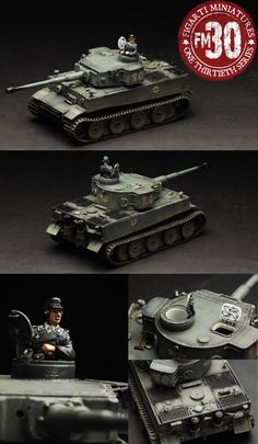 World War II German Army ETG-080 The First Tiger Tank set - Made by Figarti Military Miniatures and Models. Factory made, hand assembled, painted and boxed in a padded decorative box. Excellent gift for the enthusiast.