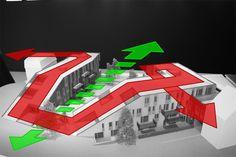 Gallery of Dolez / Associates - 18 Architecture Concept Diagram, Architecture Drawings, School Architecture, Sustainable Architecture, Architecture Design, Architecture Diagrams, Chinese Architecture, Architecture Portfolio, Famous Architects