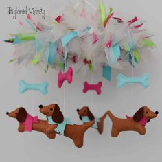 Dachshund Mobile Doxie Mobile Baby Mobile от TayloredWhimsy