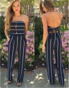 SUMMER FASHION WOMEN SOLID BLUE SPAGHETTI STRAP JUMPSUIT OFF SHOULDER WIDE LEG JUMPSUIT
