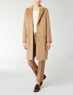 Max Mara AGAMI cammello: Cappotto jacquard in lana e alpaca.