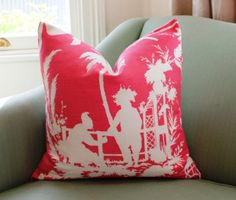 Thibaut South Sea Cushion Cover 20 Inch