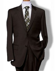 2ca190e49ebc Baroni Couture Strpe Mens Suit - Brown Brown Suits For Men, Groom And  Groomsmen Suits