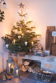 Christmas is coming Woodland Christmas, Noel Christmas, Christmas Is Coming, Country Christmas, Simple Christmas, Winter Christmas, Christmas Lights, Christmas Tree Candle Holder, Xmas Tree
