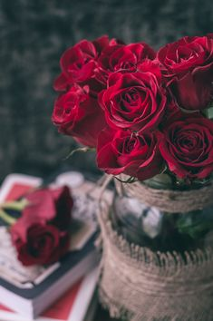 Find images and videos about flowers and rose on We Heart It - the app to get lost in what you love. Beautiful Flowers Wallpapers, Beautiful Rose Flowers, Pretty Flowers, Red Flowers, Red Roses, Flowers Vase, Rose Vase, Red Flower Bouquet, My Flower