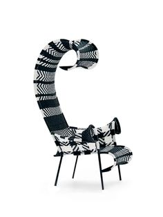 Shadowy Chair | Moroso | Outdoor | Furniture | Black And White Version |  Handmade In