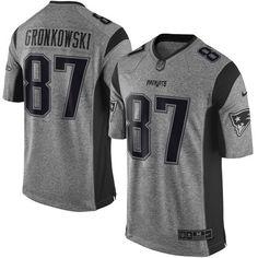 Nike Rob Gronkowski New England Patriots Gray Gridiron Gray Limited Jersey