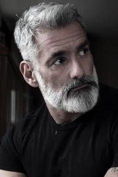 CUT # hair men with gray hair # gray hair beard # bar . CUT # hair with gray hair # gray hair beard # bar … – great beard amp; Grey Hair Beard, Men With Grey Hair, Gray Hair, Older Mens Hairstyles, Haircuts For Men, Men's Hairstyles, Beard Styles For Men, Hair And Beard Styles, Beard Cuts
