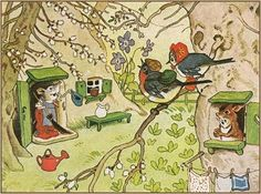 Soloillustratori: Fritz Baumgarten- Les cartes postales et dessins