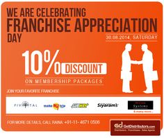 GetDistributors celebrating #FranchiseBusiness Model by giving discounts. Start a new franchised #business today: http://www.getdistributors.com/memberships.html