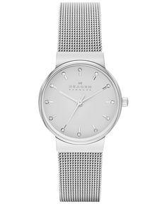 Skagen Women's Ancher Stainless Steel Mesh Bracelet Watch 26mm SKW2195 - Women's Watches - Jewelry & Watches - Macy's