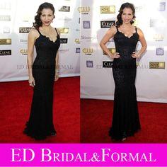 Gloria Reuben Dress Black Mermaid Evening  2013 Critics Choice Awards Celebrity Red Carpet
