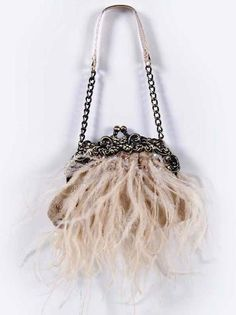 Vintage feather clutch