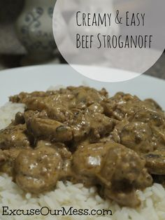 Creamy & Easy Beef Stroganoff | Excuse Our Mess
