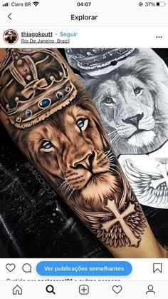 Lion Forearm Tattoos, Lion Head Tattoos, Forarm Tattoos, Mens Lion Tattoo, Love Tattoos, Tattoos For Guys, Small Tattoos, Beautiful Tattoos, Leg Tattoo Men
