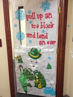 Office Door Decoration Who S Quot Yeti Quot For Christmas