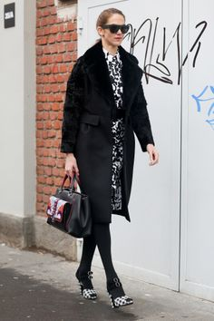 J.J. Martin does black and white like a fashion pro.