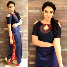 Sreemukhi in Rekha's House Of Couture – boutiquesareeblouse.com