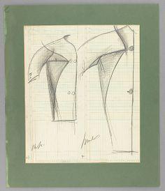 Sketch, Charles James, 1953-55; paper, graphite. -The Metropolitan Museum of Art. (2009.399.3677)