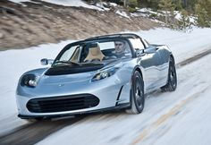 Tesla Roadster  It's an electric supercar! 0-60 in 3.7 seconds, putting even the Porsche hybrid to shame.    Nikola would be proud.    120 MPGe    244 Mile Range