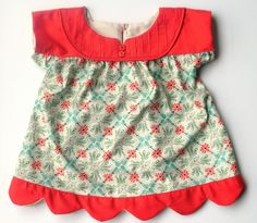 Oliver + S Ice Cream Top front with modified yoke and scalloped hem