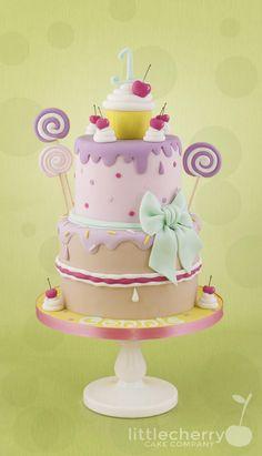 Girly lollipop cake - Cake by Little Cherry