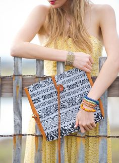 Huipil Many Ways Bag | traditional woven Guatemalan fabric & leather | $68