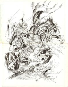 Marc Silvestri Medieval Spawn Witchblade 1 Poster  Comic Art