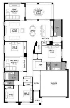 Single Story House Design | Atrium | Mojo Homes