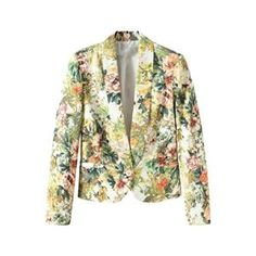 Retro Floral Blazer.Blazer, featuring unique laple down the front, long sleeves, buttoned front, twin patch pockets on lower body, split design on back hem, colorful floral print. Match with chiffon shirt inside, jeans and flats for a travel. - See more at: http://pariscoming.com/en-retro-floral-blazer-p149196.htm#sthash.Hn1GjUFf.dpuf