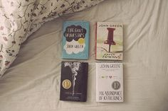 John Green books! My current favorite author! I own all these books.