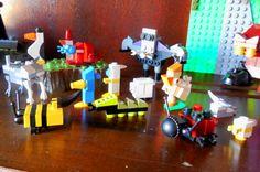 minecraft / mine craft caterpillar , lady bug , birds , cow , sheep , bat , bumble bee , crab , penguin