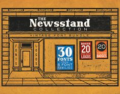 """Check out new work on my @Behance portfolio: """"The Newsstand Collection - Font Pack"""" http://be.net/gallery/62077617/The-Newsstand-Collection-Font-Pack"""
