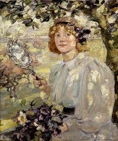 """jes68: """" Elizabeth """"Bessie"""" MacNicol (1869-1904), Under the Apple Tree, 1899. """""""