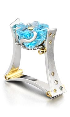 CONTEMPORARY NATURAL AQUA RING