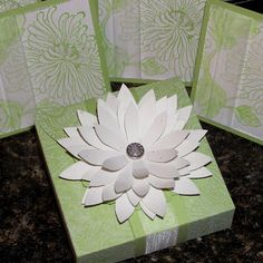 Mel Stampz: Three-inch-square Spring Note cards & Matching Daisy Box (with templates)