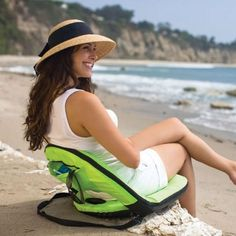 b52b3dbdff1e Foldable Padded Beach chair with six adjustable positions