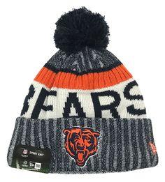 867d9f2ef New Era 2017 NFL Bear Logo Chicago Bears On Field Knit Beanie Cap Hat  11462741 Nfl