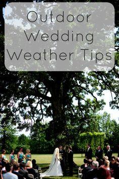 Outdoor Wedding Weather Tips