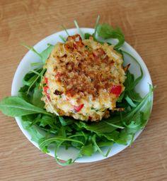 Une pipelette en cuisine: Galettes au boulgour et au poivron