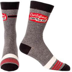 Proudly label yourself or others with our Certified Pain In The Ass Men's Socks! This this and more hilarious and uniquely fun gifts at Perpetual Kid.
