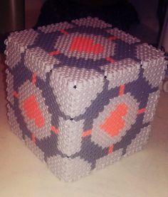 Companion cube Perler bead