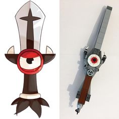 My personal interpretation of Rubilax sword  from Wakfu (@wakfu_chaine_officiel ) cartoon. On right my creation & on left the original. #lego #legostagram #legophotography #legolife #legolove #legoart #legofan #legomoc #legoinstagram #legomaniac #legoafol #legowakfu #wakfu #dofus #ankama #rubilax #tristepindepercedal