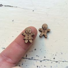 Ginger Peeps Laser Cut Earring Supplies by CraftyCutsLaser on Etsy